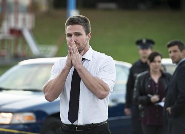 Arrow 4x09 Oliver inquiet