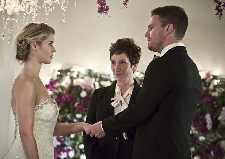 Arrow 4x16 mariage Felicity Oliver 2
