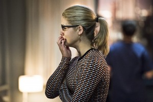 "Arrow -- ""Canary Cry"" -- Image AR419a_0008b.jpg -- Pictured: Emily Bett Rickards as Felicity Smoak -- Photo: Dean Buscher/The CW -- © 2016 The CW Network, LLC. All Rights Reserved."