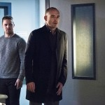 "Arrow -- ""Canary Cry"" -- Image AR419a_0169b.jpg -- Pictured (L-R) Stephen Amell as Oliver Queen and Paul Blackthorne as Detective Quentin Lance -- Photo: Dean Buscher/The CW -- © 2016 The CW Network, LLC. All Rights Reserved."