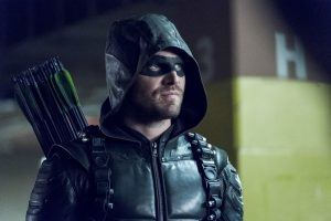 "Arrow -- ""Second Chances"" -- Image AR511b_0228b.jpg -- Pictured: Stephen Amell as Green Arrow  -- Photo: Katie Yu/The CW -- © 2017 The CW Network, LLC. All Rights Reserved."