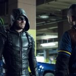 "Arrow -- ""Second Chances"" -- Image AR511b_0198b.jpg -- Pictured (L-R): Stephen Amell as Green Arrow and Rick Gonzales as Rene Ramirez/Wild Dog -- Photo: Katie Yu/The CW -- © 2017 The CW Network, LLC. All Rights Reserved."