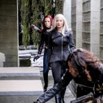 """Arrow -- """"The Sin-Eater"""" -- Image AR514b_0023b.jpg -- Pictured (L-R): Amy Gumenick as Carrie Cutter/Cupid, Kelly Hu as China White and Rutina Wesley as Liza Warner -- Photo: Robert Falconer/The CW -- © 2017 The CW Network, LLC. All Rights Reserved."""