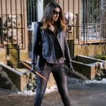 """Arrow -- """"The Sin-Eater"""" -- Image AR514b_0100b.jpg -- Pictured: Juliana Harkavy as Tina Boland/Dinah -- Photo: Robert Falconer/The CW -- © 2017 The CW Network, LLC. All Rights Reserved."""
