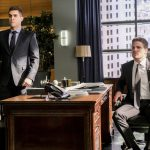"""Arrow -- """"The Sin-Eater"""" -- Image AR514a_0277b.jpg -- Pictured (L-R): Josh Segarra as Adrian Chase and Stephen Amell as Oliver Queen -- Photo: Robert Falconer/The CW -- © 2017 The CW Network, LLC. All Rights Reserved."""